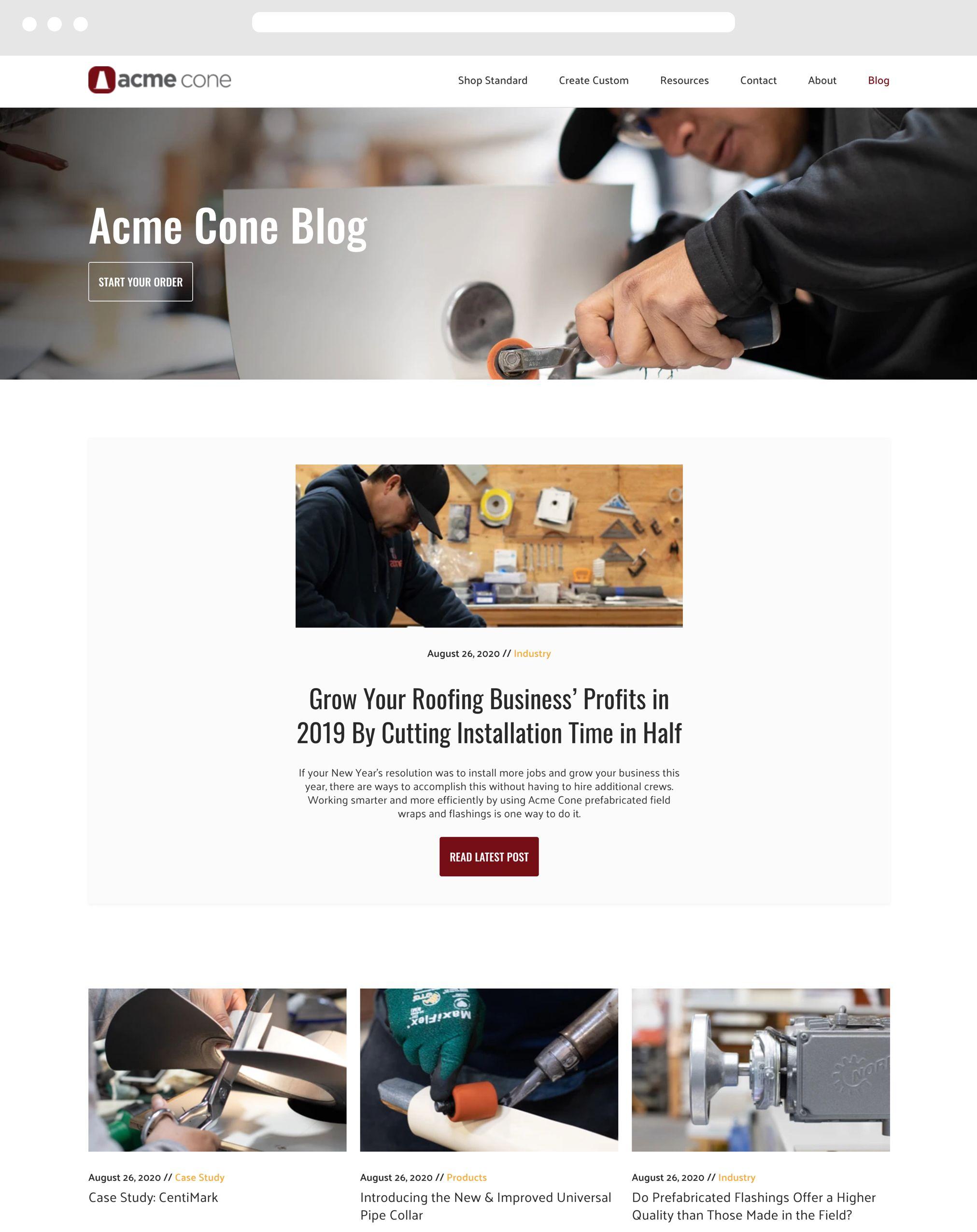 Acme Cone Desktop Example
