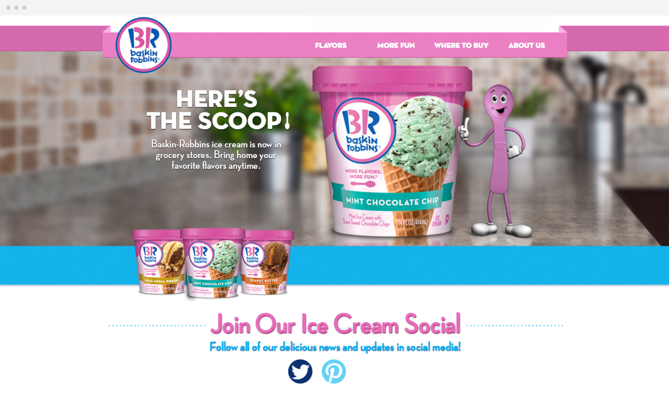 Baskin Robbins Website Design
