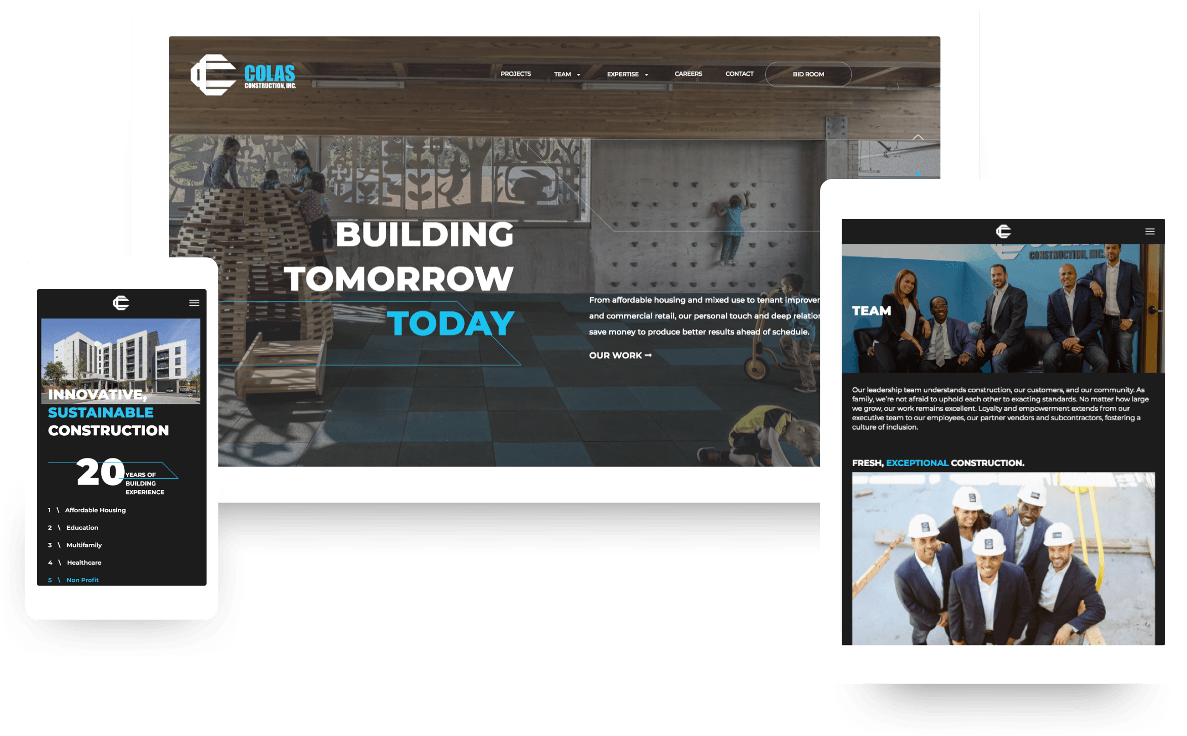 Colas Construction Responsive Web Design