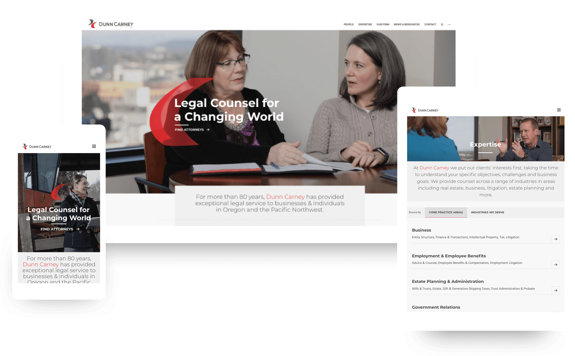 Dunn Carney Responsive Web Design