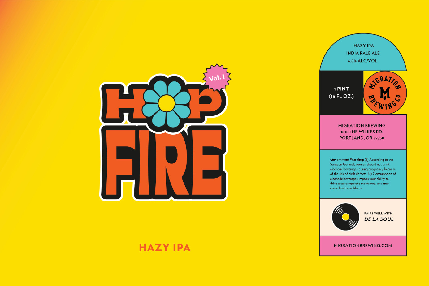 Hop Fire Label