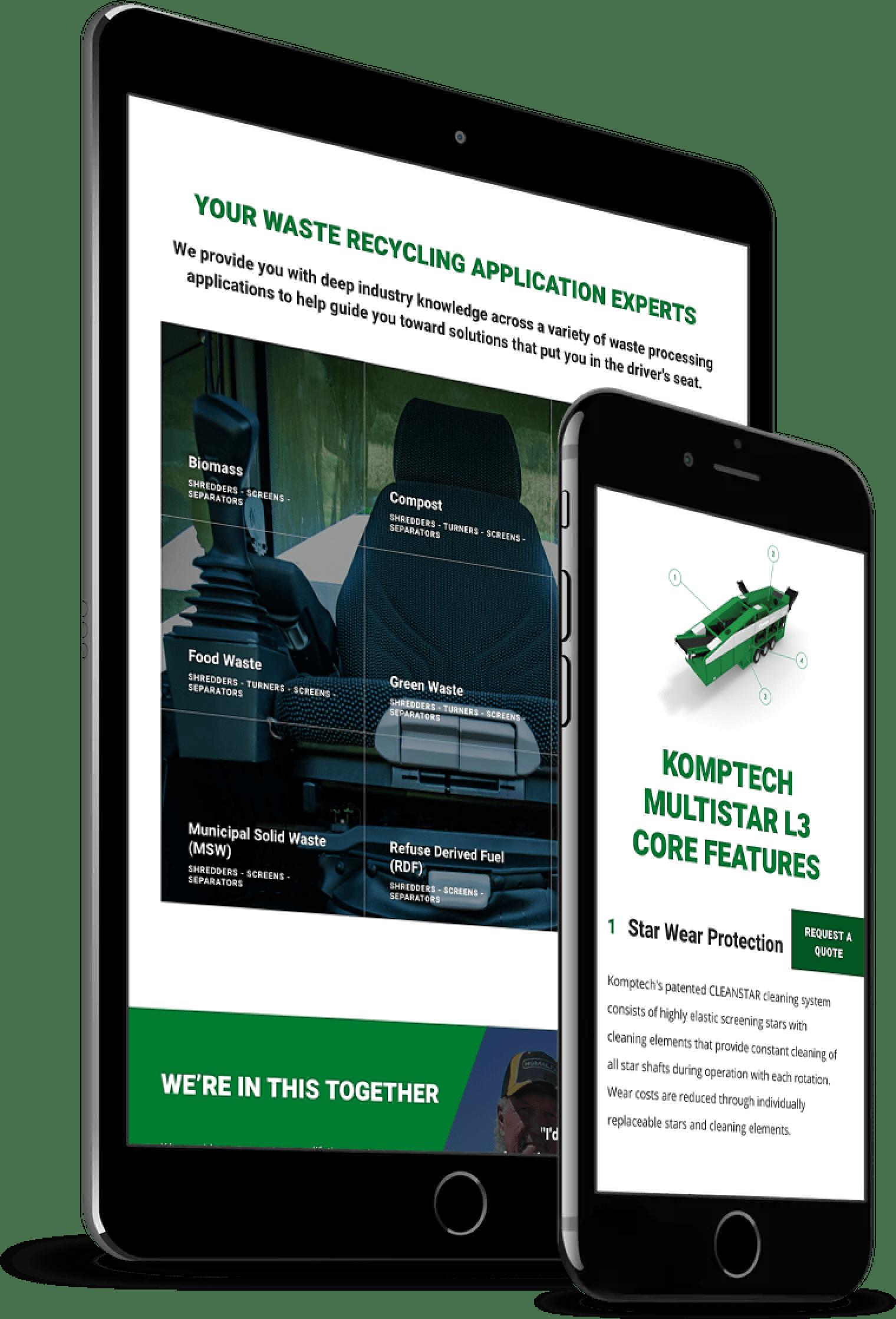 Komptech Desktop Website