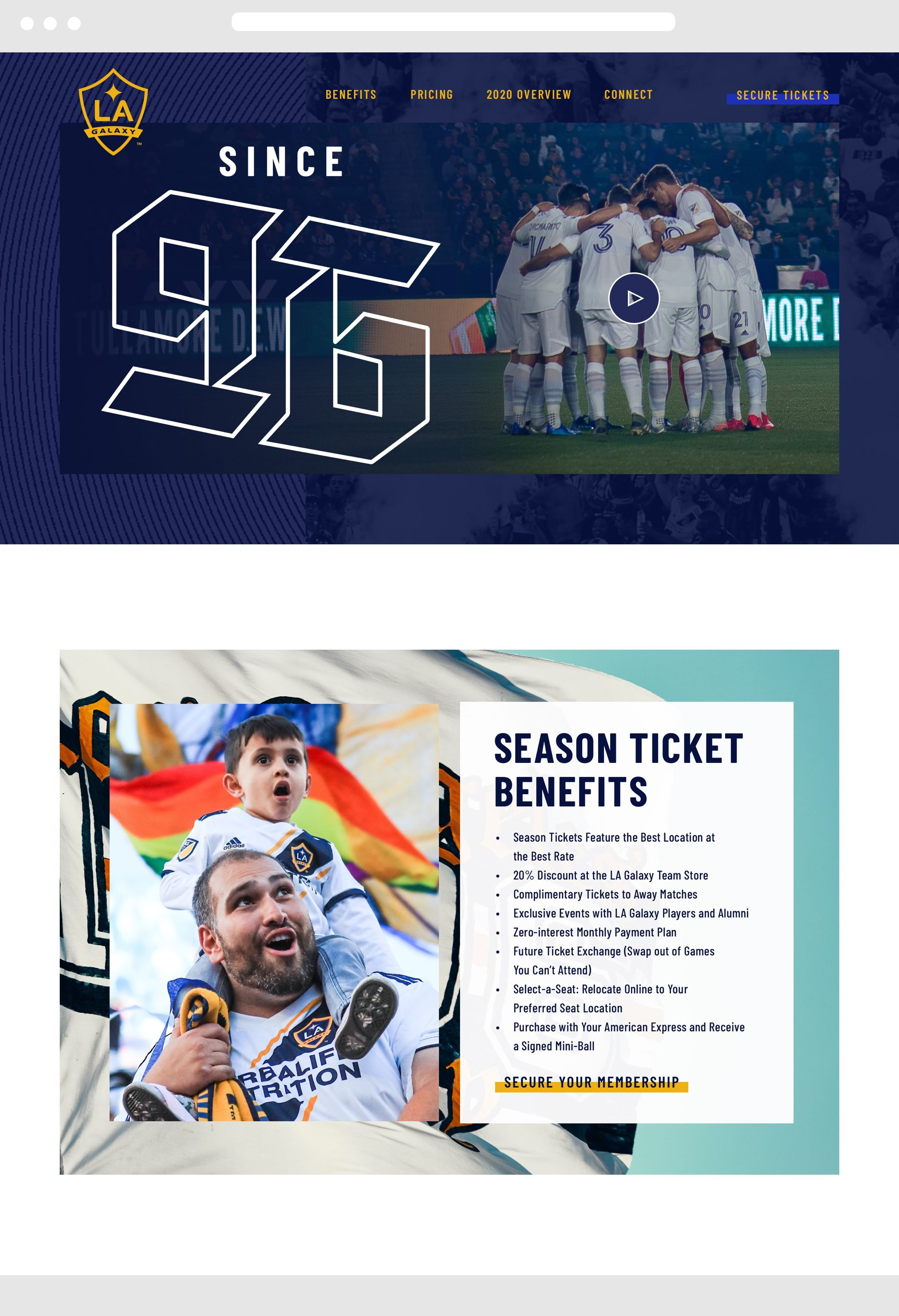LA Galaxy Desktop Website
