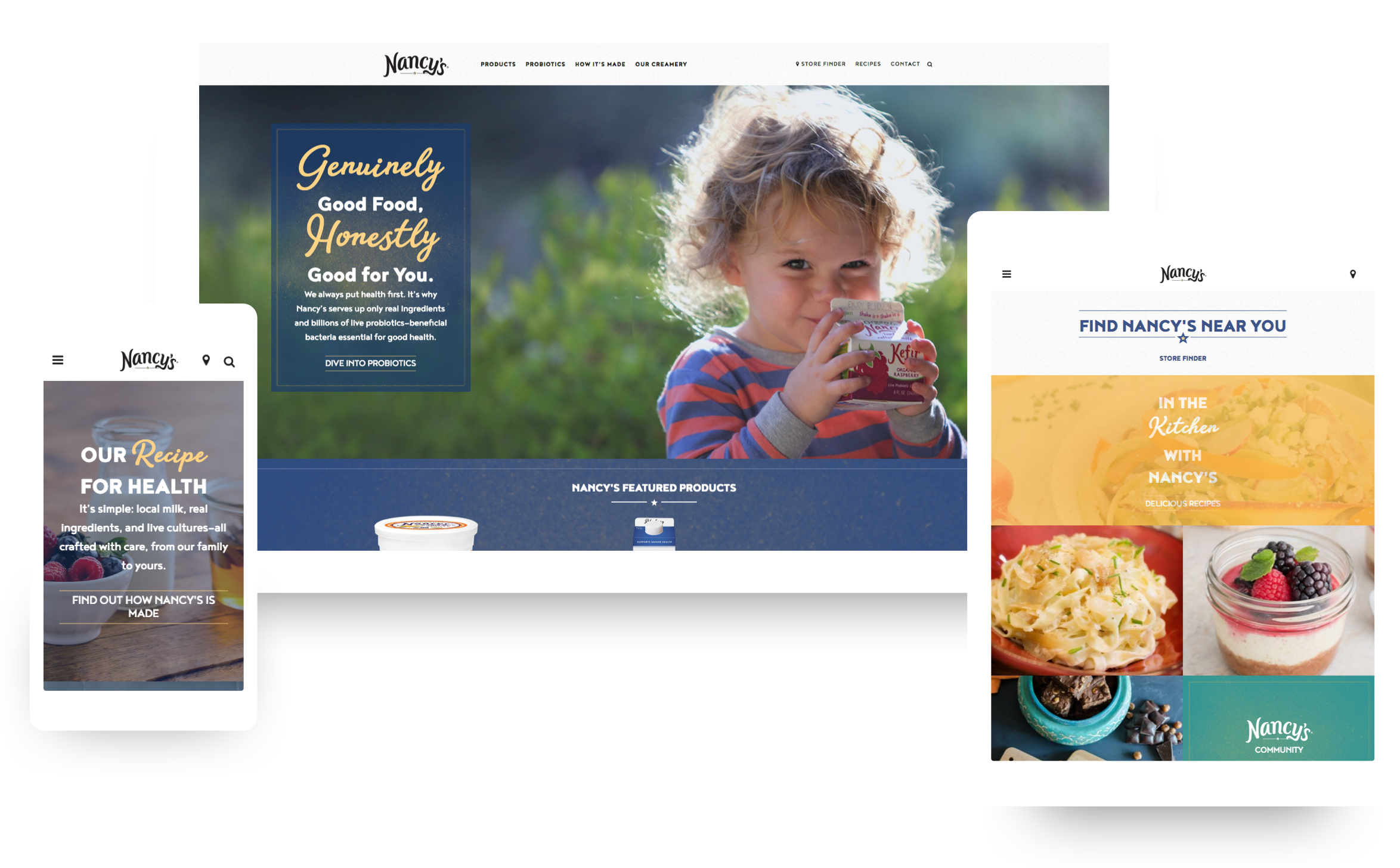 Nancy's Yogurt Responsive Web Design