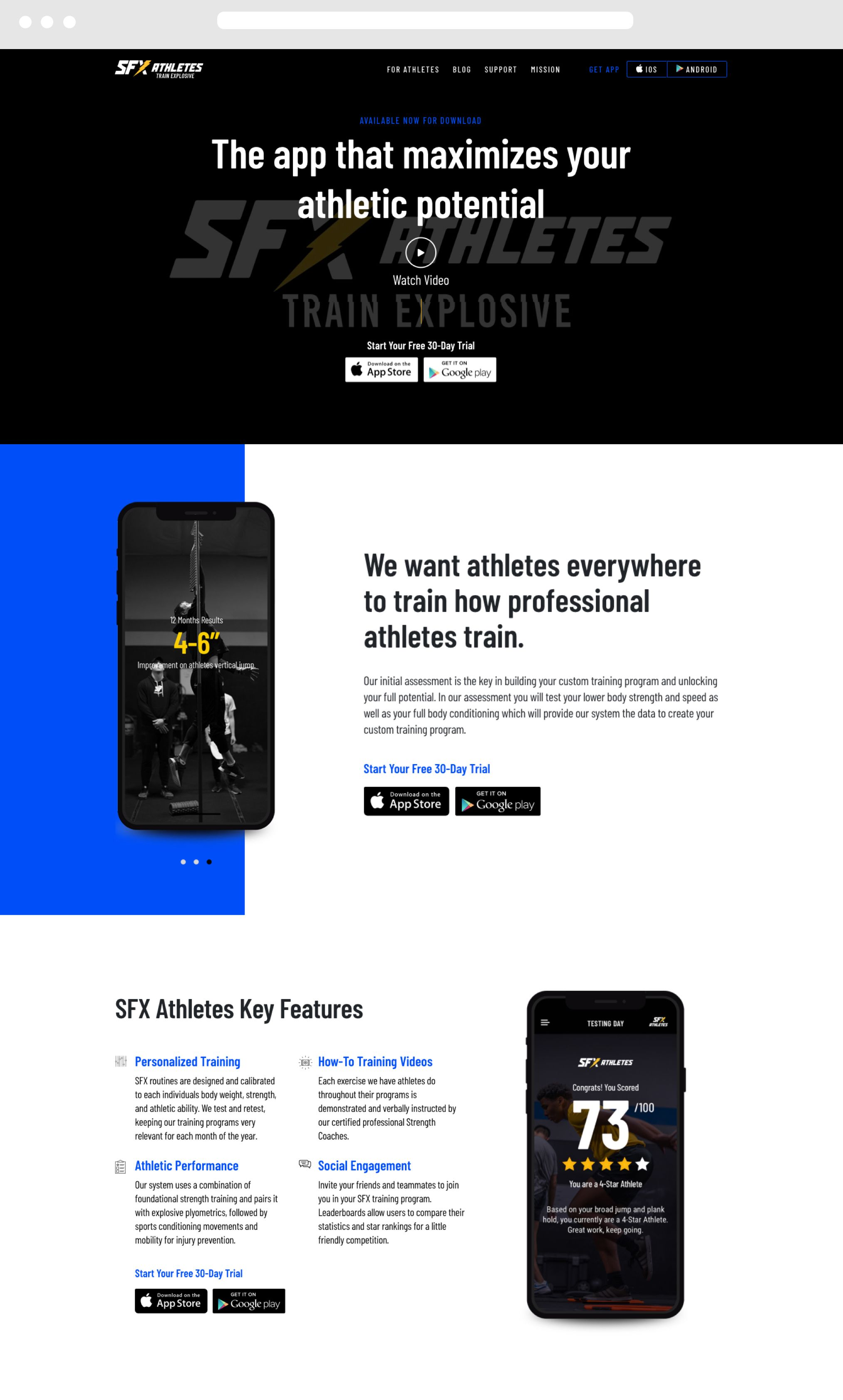 SFX Desktop Website
