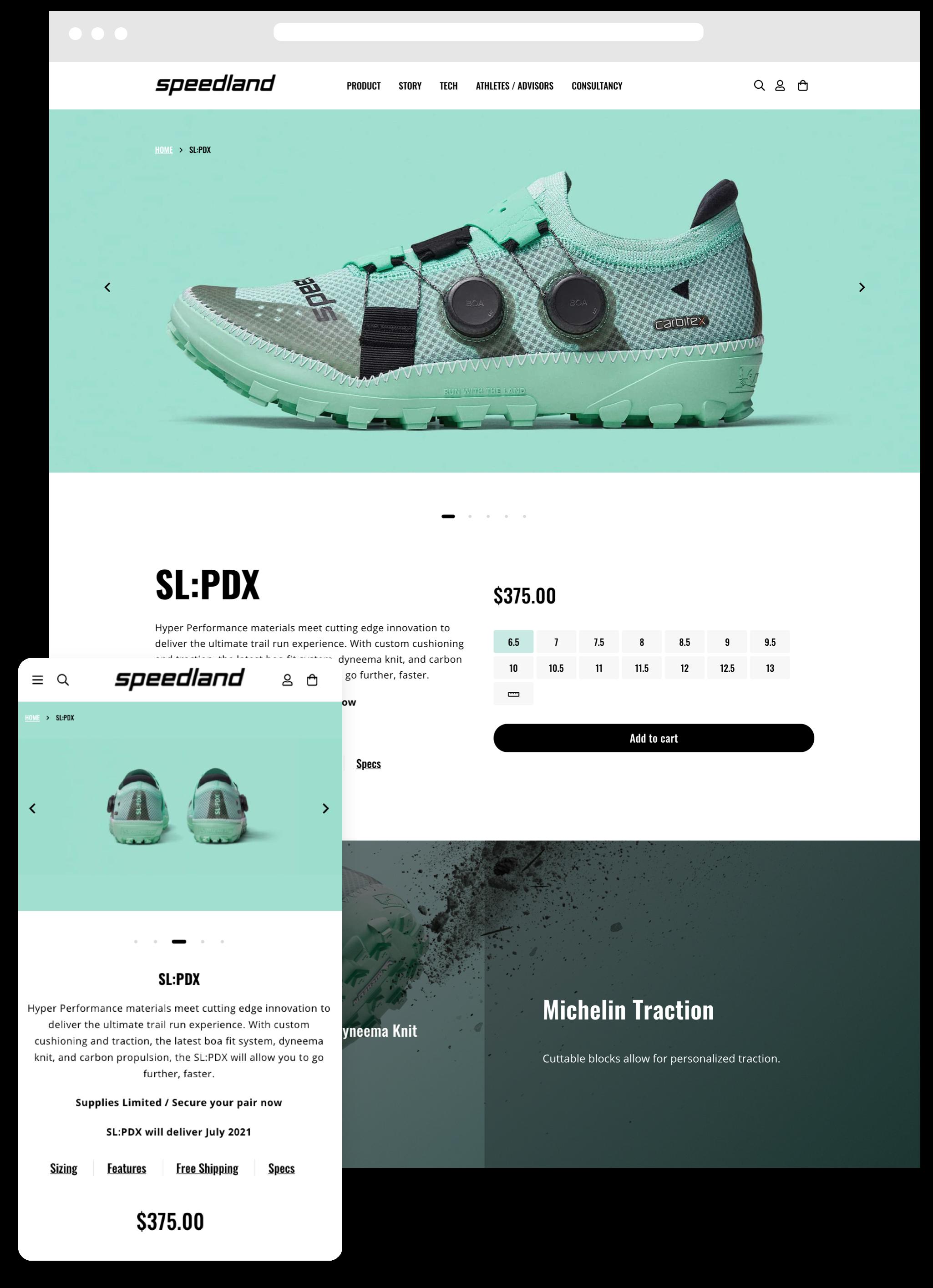 Speedland Desktop Website