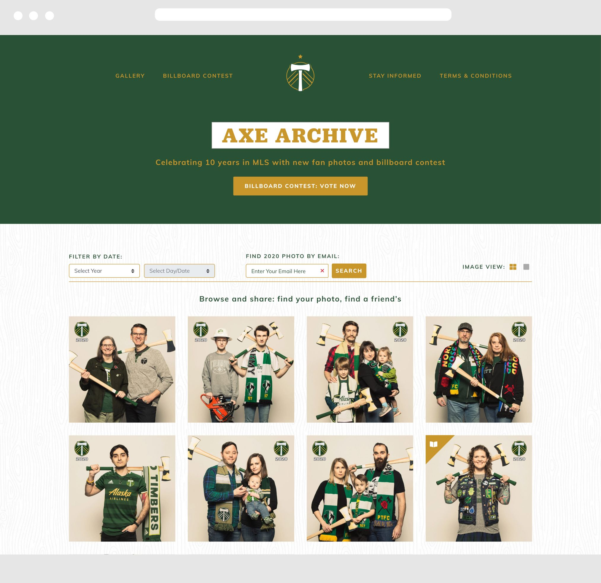 Timbers RCTID Desktop Website