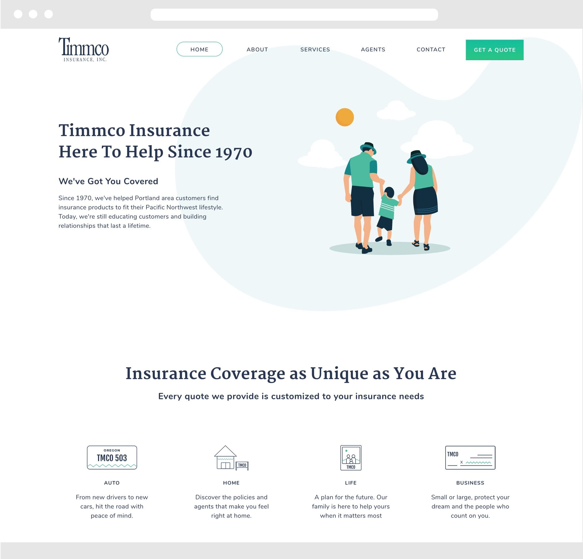 Timmco Desktop Website